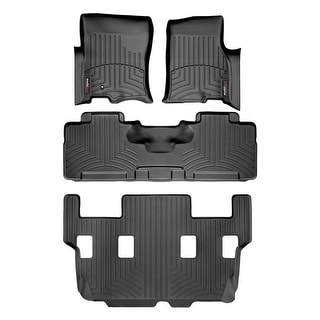 WeatherTech 44107-1-2-6 Black FloorLiner - All Rows: Ford Expedition 2007 - 2010