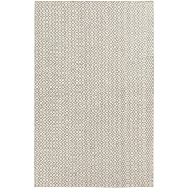 Ivory And Taupe Hand Woven Flat