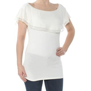 083263112f55b Tommy Hilfiger Women s Double-Layer Top - Ivory. SALE. Quick View