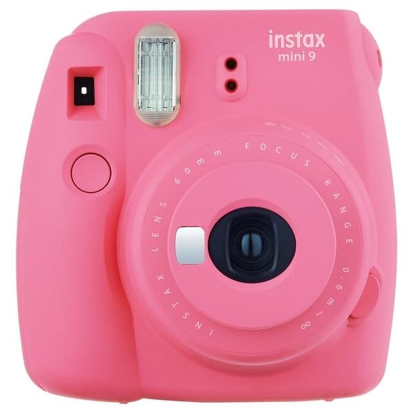 Fuji Film 16550631 Instax Mini 9 Instant Film Camera - Flamingo Pink