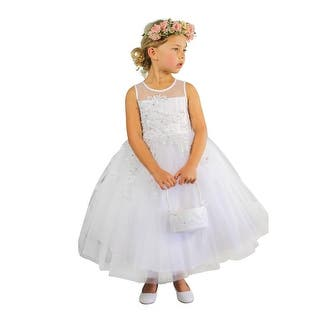 Little Girls Ivory Illusion Neckline Floral Lace Adorned Flower Girl Dress|https://ak1.ostkcdn.com/images/products/is/images/direct/d82dcf271b2fa0cda2b1387f46fbbd9c4c2aee0a/Little-Girls-Ivory-Illusion-Neckline-Floral-Lace-Adorned-Flower-Girl-Dress-2-6.jpg?impolicy=medium