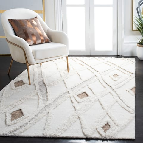 SAFAVIEH Handmade Casablanca Tjalline Moroccan Wool Rug