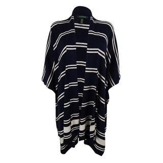 Ralph Lauren Women's Striped Silk Blend Cardigan Sweater
