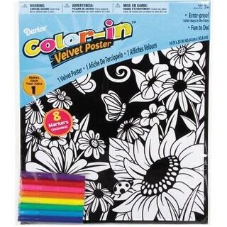 """Color-In Velvet Poster 16""""X20""""-Flower Garden"""