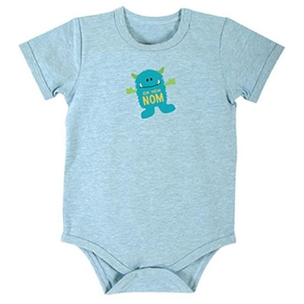 Stephan Baby 698137 6 - 12 Months Blue Monster Snap Shirt - Pack of 4