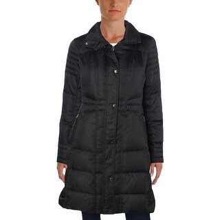 Vince Camuto Womens Puffer Coat Down Long Sleeves - M