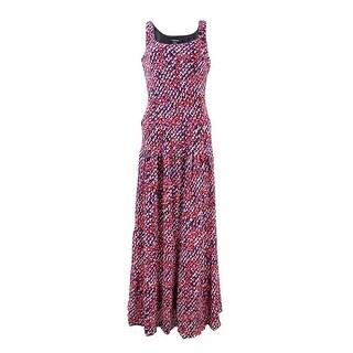 Nine West Women's Sleeveless Scoop Neck Maxi Dress
