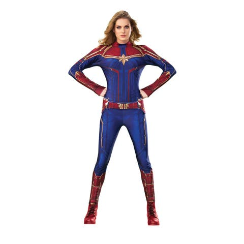 Womens Captain Marvel Hero Suit Halloween Costume