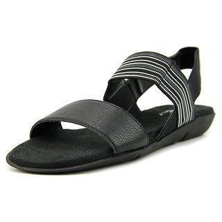 A2 By Aerosoles Savant Women  Open Toe Canvas Black Sandals