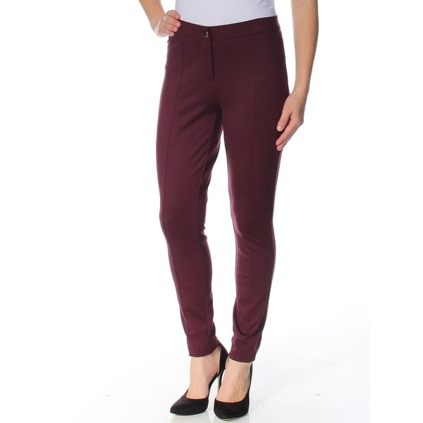 cd7291caf4bd7e Shop MAISON JULES Womens Burgundy Midrise Stretch Skinny Leggings Size: 8 -  Free Shipping On Orders Over $45 - Overstock - 27759502