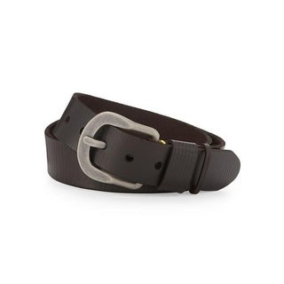 Robert Graham Mens Braeden Leather Antique Silvertone Dress Belt