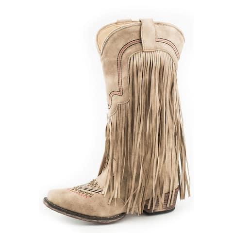 Roper Western Boots Womens Veronica Snip Toe Tan