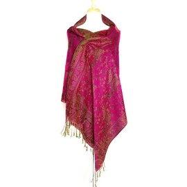 Reversible Paisley Pashmina Shawl Wrap Elegant Colors