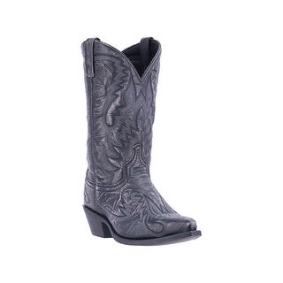 Laredo Western Boots Mens Garrett Distressed Embroidered Black 68407