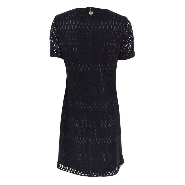 89aa5c2b7ef Shop Tommy Hilfiger Women's Velvet Lace A-Line Dress - Black - On Sale -  Free Shipping Today - Overstock - 17572870