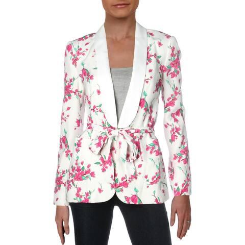 Rachel Zoe Womens Venus Jacket Floral Belted - Multi