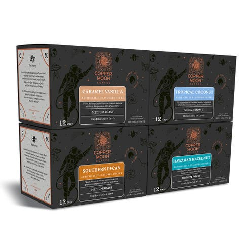 Copper Moon Single Serve Coffee K Cup Pods Flavored Variety, 48 Ct