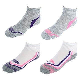 Hanes Girl's Active Breathable Ankle Socks (4 Pair Pack)