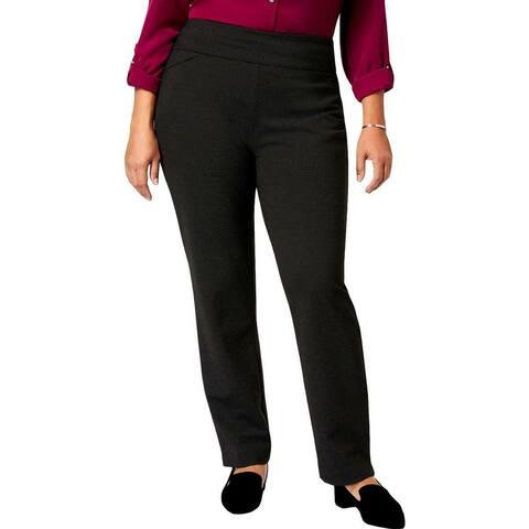 Charter Club Womens Dress Pants Black Size 18W Plus Slim Leg Stretch