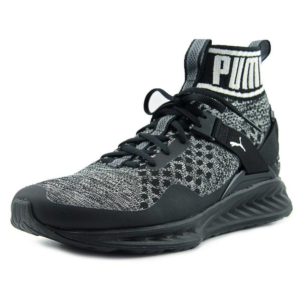 83c3fd50dee Shop Puma Ignite EvoKnit Men Round Toe Canvas Black Sneakers - Free ...