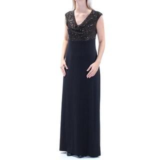 Womens Gold Sleeveless FullLength Empire Waist Formal Dress Size: 6