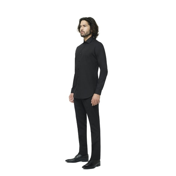 Black Knight Classic Men Adult Slim Fit Shirt - Large