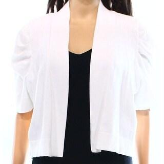 Calvin Klein NEW White Womens Size Medium M Knit Cardigan Sweater