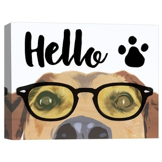 """PTM Images 9-124840  PTM Canvas Collection 8"""" x 10"""" - """"Hello Dog"""" Giclee Dogs Art Print on Canvas"""