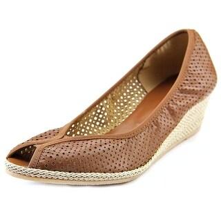 Sesto Meucci Mersey N/S Open Toe Leather Wedge Heel