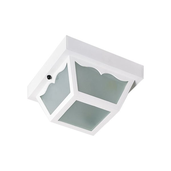 """Nuvo Lighting 77/835 1-Light 8-1/4"""" Wide Flush Mount Ceiling Fixture - White"""