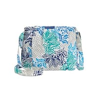 Vera Bradley Womens Hadley Shoulder Handbag Quilted Printed - Medium