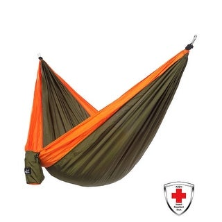 Just Relax Single Portable Lightweight Camping Hammock With KISH Bug Repellent, 10.6x5 Feet