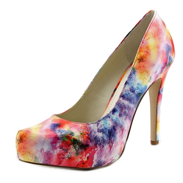 BCBGeneration Parade Women  Open Toe Synthetic Multi Color Platform Heel