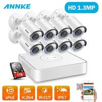 ANNKE 8CH Indoor Outdoor 960P sPOE CCTV Night Vision Security Cameras System