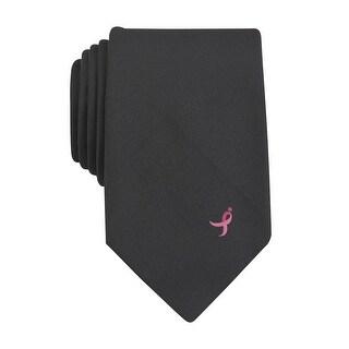 Susan G Komen Crepe Fashion Classic Necktie Black Solid