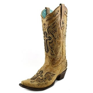 Corral C2854 Women Pointed Toe Leather Tan Western Boot