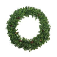 6' Dakota Red Pine Commercial Artificial Christmas Wreath with Pine Cones - Unlit - green