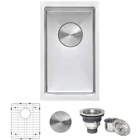 Ruvati 10 inch Undermount Bar Prep Tight Raduis 16 Gauge Kitchen Sink Stainless Steel Single Bowl - RVH7010