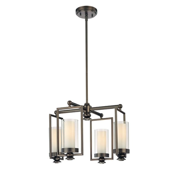 Minka Lavery 4363 4 Light 1 Tier Mini Chandelier from the Harvard Court Collection - harvard ct bronze