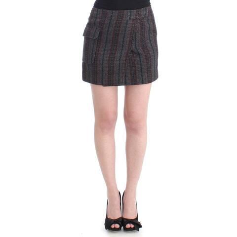 Costume National Gray wool mini Women's skirt - it40-s