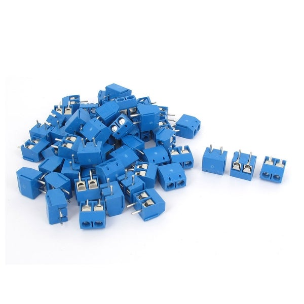 Unique Bargains AC 300V 10A 5mm Plug-in Screw Terminal Block Connector PCB Mount 80PCS
