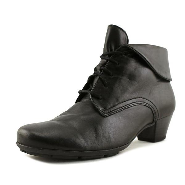 Gabor 95.630 Women Round Toe Leather Black Bootie