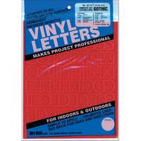 """Permanent Adhesive Vinyl Letters & Numbers 1"""" 183/Pkg-Red"""