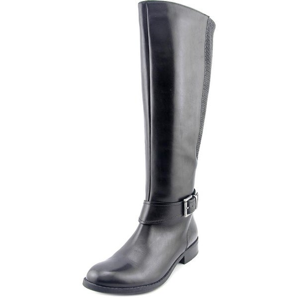 Clarks Narrative Pita Arizona Women Round Toe Leather Black Knee High Boot
