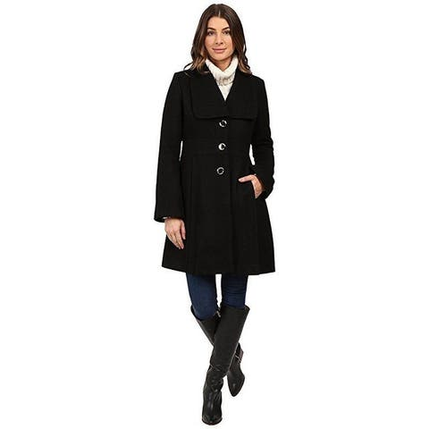 Jessica Simpson Women's Melton Bell Sleeve With Waist Detail Black X-Small