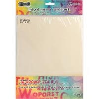 """8.5""""X11"""" - Dylusions Mixed Media Cardstock 10/Pkg"""