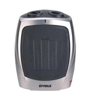Optimus H7004 1500 Watt Portable Ceramic Space Heater - Silver/Grey