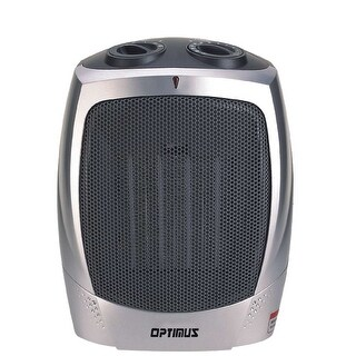 Optimus H7004 1500 Watt Portable Ceramic Space Heater - Silver/Grey