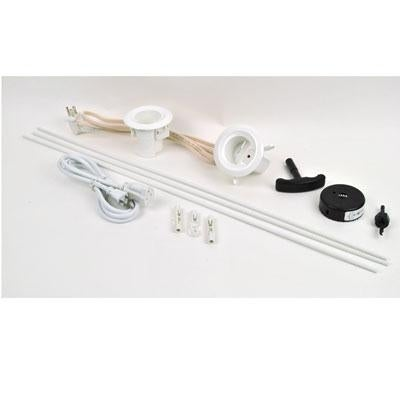 Legrand - Wiremold Cmk70 Flat Screen Tv Cord And Cable Power Kit, Recessed In-Wall Cable Management System With Powercon
