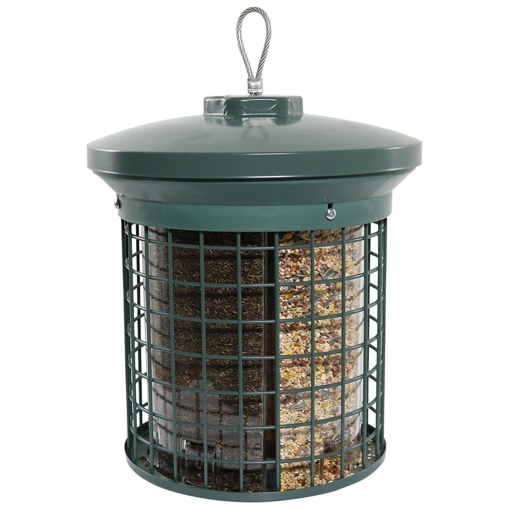 Sunnydaze Green Triple Tube Bird Feeder - Thumbnail 2